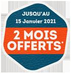 2 mois offerts jusqu'au 15 janvier 2021
