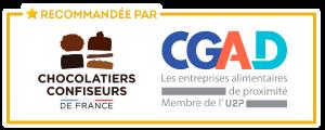 Recommandée par les Chocolatiers Confiseurs de France et la CGAD